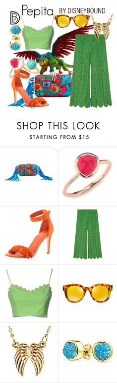 """""""Pepita"""" by leslieakay ❤ liked on Polyvore featuring Benedetta Bruzziches, Monica Vinader, Joie, Gucci, Moschino Cheap & Chic, Fendi, Bling Jewelry, Astley Clarke, disney and disneybound"""