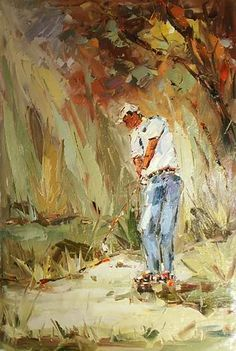 paintings of Golf player... #golf #art