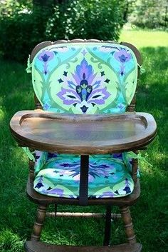 Most Fashionable DIY High Chair Ever