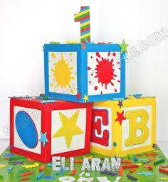 1000 images about boy birthday cakes on pinterest for Alphabet blocks cake decoration