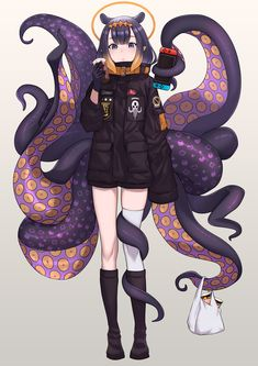 "BBK13zK on Twitter: ""The trendy travelling tako 🐙 #inART #いなート… "" Anime Girl Cute, Kawaii Anime Girl, Anime Art Girl, Manga Art, Anime Girls, Dark Fantasy Art, Cute Anime Character, Character Art, Sakura Card Captor"