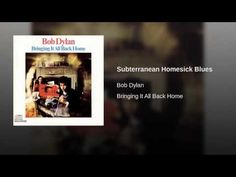 Subterranean Homesick Blues. 1/16/1965. This timeless tune has been available to us for 50 years as of today, 1/16/2015.