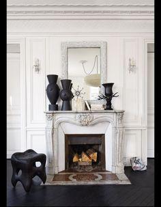 Visite : un appartement haussmannien relooké en noir et blanc - Elle Décoration