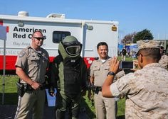 Marines, Sailors and other emergency response proponents packed the lawns of Marina Green Park with static displays for the humanitarian assistance and disaster relief village display in San Francisco, California, Oct. 9, as part of San Francisco Fleet Week 2015.