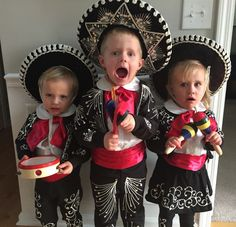 the three amigos costumes made by grandma so easy