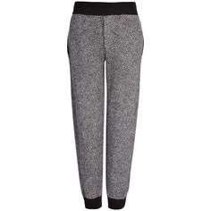 Joseph Chevron Knits Jog Trouser in CHARCOAL ($430) ❤ liked on Polyvore featuring pants, charcoal, cuff pants, cuffed jogger pants, tapered jogger pants, jogger pants and herringbone pants