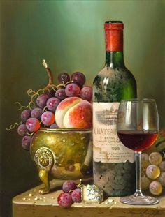 Unique Wine Totes & Carriers and Wine Accessories, click now for Personalized Wine Gifts, Cheese Boards, Glasses & Wine Decanters. Wine Painting, Fruit Painting, Still Life Photos, Still Life Art, Fruit Photography, Life Photography, Mago Tattoo, Paint And Drink, Still Life Oil Painting