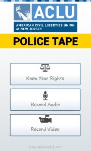ACLU of New Jersey launched an app to help citizens record their interaction with Police. It released last year. This app is limited to New Jersey citizens.