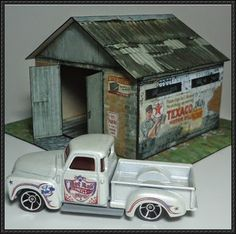 Old Garage Free Building Paper Model Download - http://www.papercraftsquare.com/old-garage-free-building-paper-model-download.html