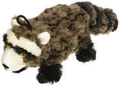Patchwork Pet Swirl Racoon 8-Inch Squeak Toy for Dogs