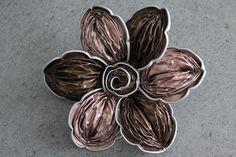 Barrette ou broche Nespresso Rose et Marron