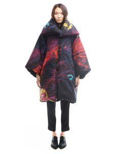 Silk puffer coat Yohji Yamamoto - buy