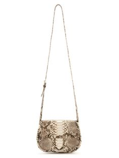 Mini Carriel cross body bag in natural python skin by Adriana Castro