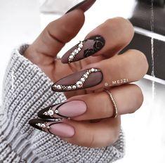 Short Nail Manicure, Black Manicure, Black Nails, Red And Gold Nails, Baby Pink Nails, Beautiful Compliments, Sweater Nails, Nail Envy, Nail Games