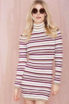 Nasty Gal Dominique Turtleneck Knit Dress