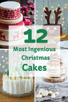 On the twelfth day of Christmas, my true love gave to me... a million and one fantastic Christmas cakes to pick from! Whether you prefer them traditional or modern, fun or full of festive cheer, there's no denying that it ain't Christmas til you have a slice or two of cake!