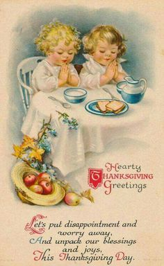 Make Thanksgiving really special for your loved ones by giving them handmade cards. Here are some Thanksgiving cards ideas that you might want to try out. Vintage Greeting Cards, Vintage Christmas Cards, Vintage Holiday, Vintage Halloween, Vintage Postcards, Holiday Fun, Holiday Cards, Vintage Fall, Holiday Postcards