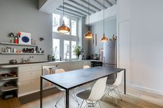 Modern Apartment In Paris Designed By French Interior Designer with regard to Awesome French Apartment Interior Design Minimalist Apartment, Minimalist Kitchen, Minimalist House, Small Kitchen Lighting, Small Apartment Kitchen, Apartment Living, Appartement Design, Apartment Interior Design, Apartment Ideas