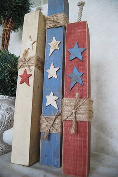 wood crafts, wooden, home decor, DIY, firecrackers, 4th of July, vintage, folk art, americana