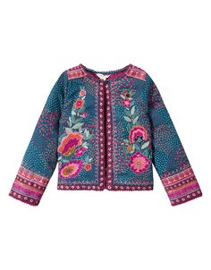 Eabha Embroidered Jacket | Blue | Monsoon