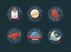 How to Create Stylish Flat Space Icons in Adobe Photoshop - Tuts+ Design & Illustration Tutorial