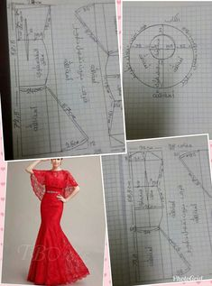 Best 12 Fit and flare lace dress with lace cape – SkillOfKing. Dress Sewing Patterns, Clothing Patterns, Fashion Sewing, Diy Fashion, Moda Fashion, Merian, Gown Pattern, Pattern Cutting, Pattern Making