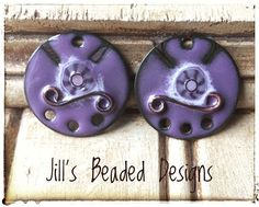 Enameled Copper Charms Purple Murrini Charms Jewelry making