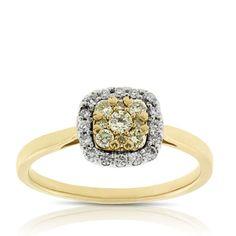 Yellow Diamond Ring 14K Yellow Engagement Rings, Perfect Engagement Ring, Diamond Jewelry, Gemstone Jewelry, Yellow Diamond Rings, Round Diamonds, White Diamonds, Ring Size Guide, 3 Carat