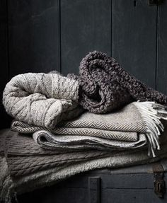greige: interior design ideas and inspiration for the transitional home by christina fluegge: Dark grey and so cozy. Gray Matters, Transitional House, 50 Shades Of Grey, Color Shades, Cozy Blankets, Winter Blankets, Crochet Blankets, Winter Scarves, Warm And Cozy
