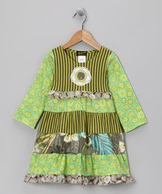 Green Hawaii Dress - Toddler & Girls by ZAZA couture on #zulily