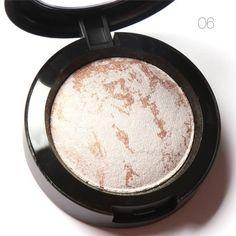 FOCALLURE 10 Colors Baked Eyeshadow Eye shadow Palette in Shimmer Metallic Eyes Makeup Cosmetics Tools