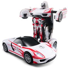 Free Shipping Racing Car Models Deformation Robot Transformation Remote Control RC Car Toys for Children Christmas Gift TT672