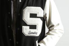 British Designer Supremebein Unisex Letterman Sport Jacket Wool Faux Leather OG
