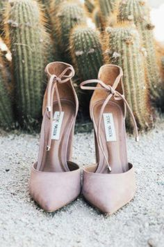 017f9eec9 Blush pink lace up suede pumps heels. Boho Chic Elopement Inspiration with  a Cool Teepee Altar