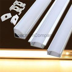 18in Aluminum Channel LED Strip Light Bar Lamp Holder DIY Case Kit Box YW U V | eBay http://www.ebay.com/itm/-/291987640822?