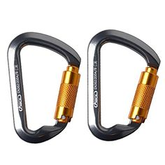 AYAMAYA 30KN Locking Carabiners 2Pack Aluminum Auto Locking Dring Outdoor Buckle *** Read more reviews of the product by visiting the link on the image.Note:It is affiliate link to Amazon.