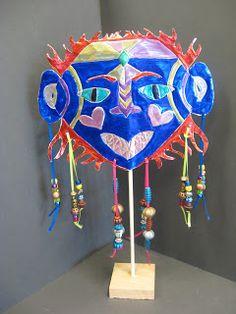 mrspicasso's art room: Metal Repousse Mask Sculpture