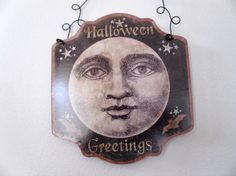 fall/ halloween harvest moon plaque by judypope on Etsy, $12.00