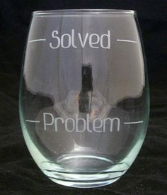 Problem Solved Stemless Wine Glasses Mothers gifts,-11 Main