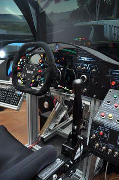 Show Your Cockpit Computer Gaming Room, Gaming Room Setup, Pc Setup, Custom Car Interior, Racing Simulator, Video Game Rooms, Game Room Design, Racing Wheel, Car Mods