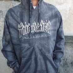Thrasher Logo Tie Dye Hoodie