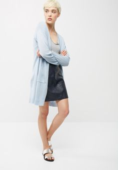 0f77800d62c53 Pocket detail open cardi - pale blue dailyfriday Knitwear | Superbalist.com  White Button Up