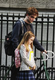 """Robert Pattinson and Ruby Jerins portray the characters of brother and sister, Tyler and Caroline Hawkins respectively in the movie """"Remember Me""""........"""