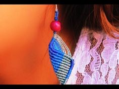 tutorial como hacer aros macramé macramé earrings