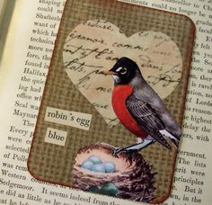 ACEO OOAK ATC collage and handstamped original by PaperPastiche, $7.50