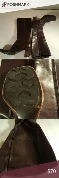 Riding boots Leg boots, genuine leather normal wear,  but excellent condition Alberto fermani Shoes Heeled Boots