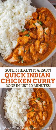 Indian Chicken Curry is creamy and savory made with chicken breast in a seasoned yogurt and tomato sauce ready in 30 minutes curry indiancurry chickencurry indianrecipes india yogurt simple best tomatoes spices dinner dinnerthendessert Chicken Breast Recipes Healthy, Healthy Recipes, Easy Indian Chicken Recipes, Simple Indian Recipes, Healthy Indian Food, Healthy Dinner Recipes Indian, Healthy Indian Recipes, Indian Foods, Butter Chicken Rezept