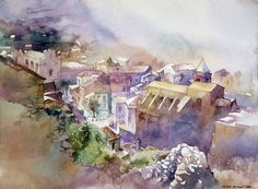In this articles we will present you the best urban watercolor paintings from some very talented artists. We can use watercolors as a sketch medium or to create an epic watercolor painting, also we can choose between painting technique and drawing te. Watercolor Architecture, Watercolor Landscape, Watercolor Canvas, Watercolor Paintings, Watercolours, Watercolor Techniques, Painting Techniques, Art Aquarelle, Guache