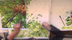 Painting trees and leaves with watercolor : Leaves Lace, a time lapse video by Sandrine Pelissier