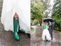 Hunter Rain Boots - Not something I would plan on, but the fact that it's a rainy wedding is sort of adorable